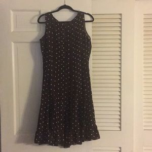 Brown polka dots dress